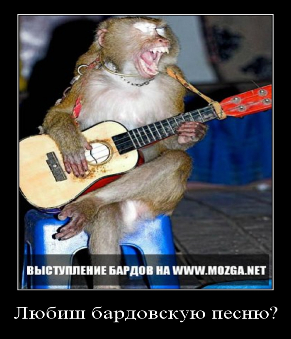 Демотиватор: Любиш бардовскую песню\?