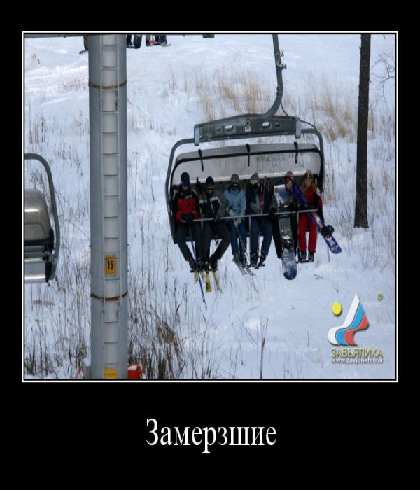 Демотиватор: Замерзшие